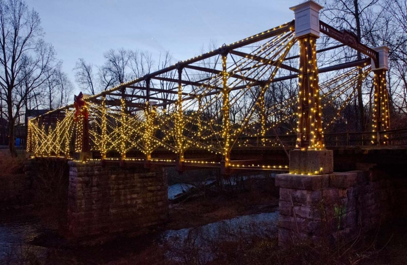 Savage, Maryland 12/07/13 Photo by Nicole Martyn The Bollman Truss Bridge, an antique iron truss bridge in Savage, was lit for the first time ever with 12,500 energy efficient LED lights from December 7, 2013 during a ceremony that included local dignitaries and community members.